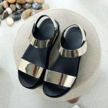 [PRE-ORDER] Women Korean Shiny Silver Sandals