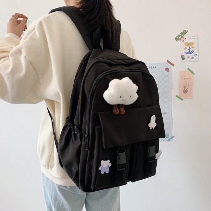 Women Fashion High school College Simple Large-capacity Backpack