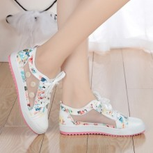 [PRE-ORDER] Women Net Canvas Flora Flower Sneakers