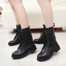 [PRE-ORDER] Women Martin Lacing Up Soldier Boots