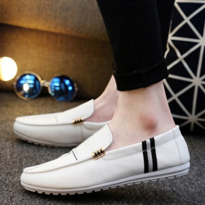 [READY STOCK] Men PU England Fashion Casual Boat Shoes