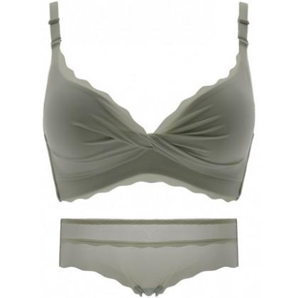 Women Clothing Non-marking No Steel Ring Bra Underwear Set