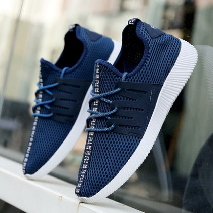 [READY STOCK] Men Net Elastic Casual Sport Shoes
