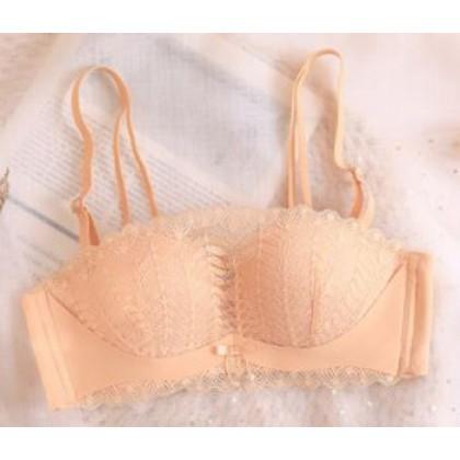 Women Clothing Strapless Underwear Women's Small Chest Gathered Bra