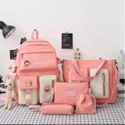 Women Bags School Bag Female Elementary School Students Large-Capacity Backpack