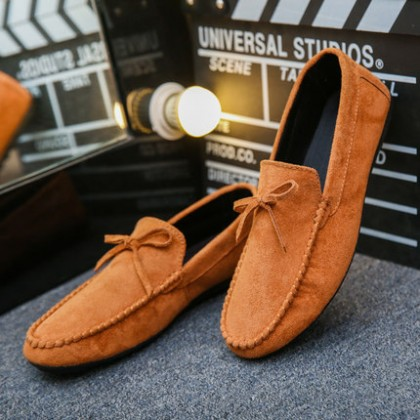 Men Fashion Semi Formal Loafer Suede Leather Shoes