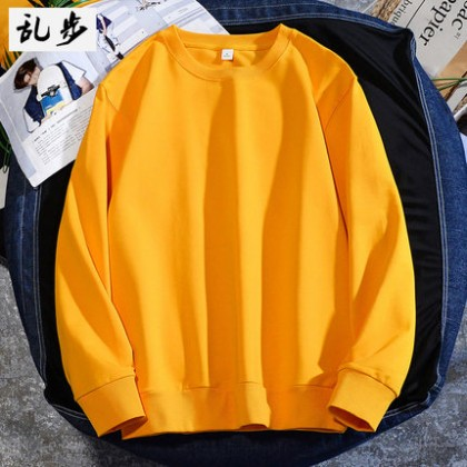 Men Clothing Pullover Sweater Round Neck Long-Sleeved T-shirt