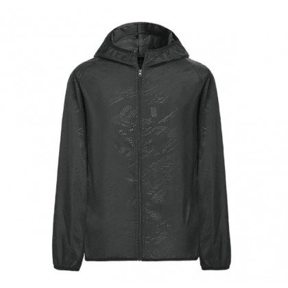 Men Clothing Ice Silk Ultra-Thin Sun Hooded Jacket