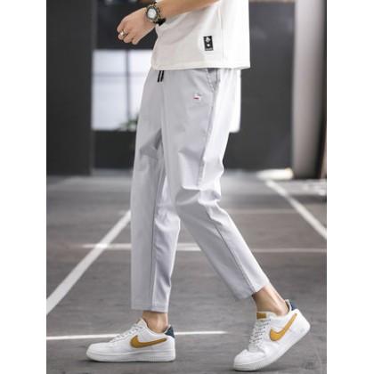 Men Clothing Casual Ice Silk Pants Sweatpants Trousers