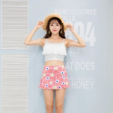 [PRE-ORDER] Women Two Pieces Skirts Flower Lotus Leaf Swimsuit