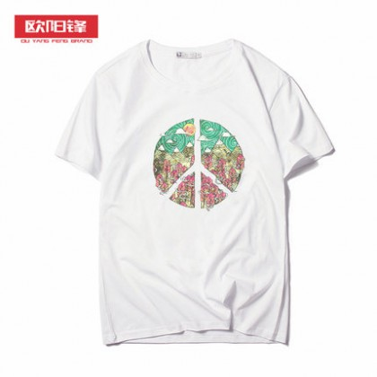 Men Japanese Printed Graphic Short Sleeve T-Shirt
