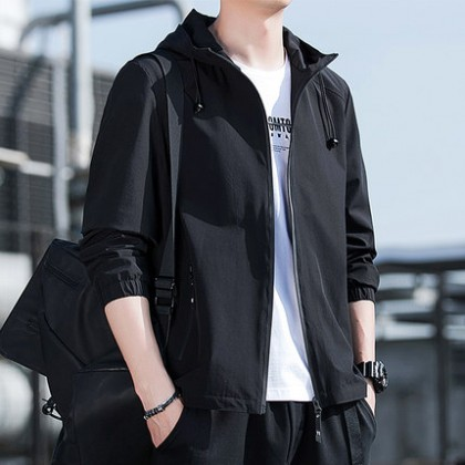 Men Clothing Korean Version Casual Breathable Jacket