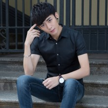 [READY STOCK] Men Plain Working Office Formal Short Sleeve Shirt