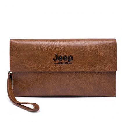 Men Bags Vintage Multi-function Pocket Genuine Leather Clutch Wallet