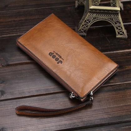 Men Bags Vintage Long Casual Zipper Wallets Clutch Card Holder