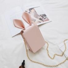 [PRE-ORDER] Women Cute Rabbit Bunny Ear Phone Sling Bag