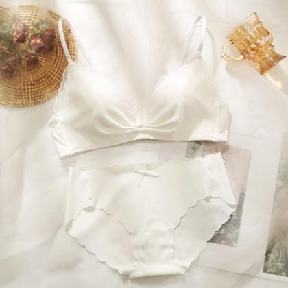 Women Clothing Ultra-thin Underwear No Wire Beautiful Back Bra
