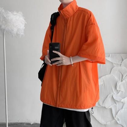 Men Clothing Sun Protection Loose Casual Thin Short-Sleeved Jacket