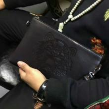 [PRE-ORDER] Men Soft PU Leather Tiger Handbag
