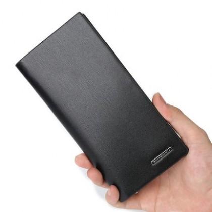 Men Soft PU Leather Business Long Wallet