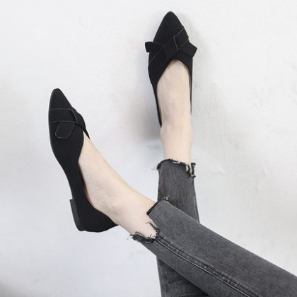 Women Fashion Shallow Mouth Flat Pointed Toe Soft Bottom Shoes