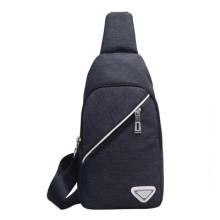 [PRE-ORDER] Men Zipped Canvas Chest Pack Bag