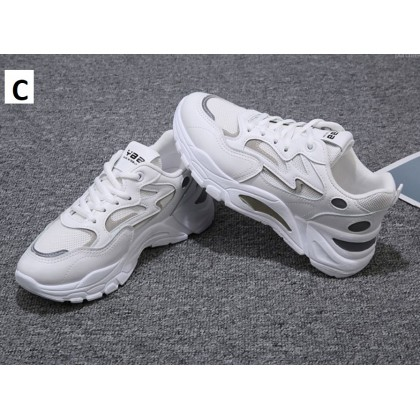 Women Fashion Korean Shoes Sports Comfortable Thick Sole Sneakers
