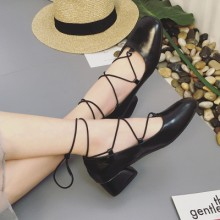 [PRE-ORDER] Women England Cross Straps Heels Shoes