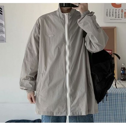 Men Clothing Sun Protection Sports Cool Loose Jacket