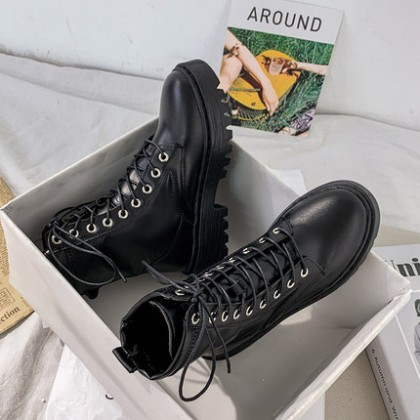 Women Fashion Martin Thin British Style Short Boots