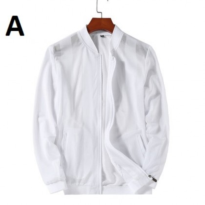 Men Clothing Ice Silk Loose Breathable Trend Collar Air-conditioning Shirt