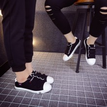 [PRE-ORDER] Men Women Korean Couple Velcro Design Canvas Shoes