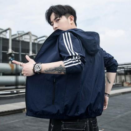 Men Clothing Antarctic Ice Silk Fishing Sunscreen Lightweight Jacket