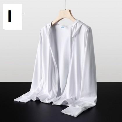 Men Clothing Ultra-thin Sunscreen Shirt Summer Coat Skin Clothes