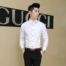 [PRE-ORDER] Men Plus Size XXL Basic Formal Long Sleeve Shirt