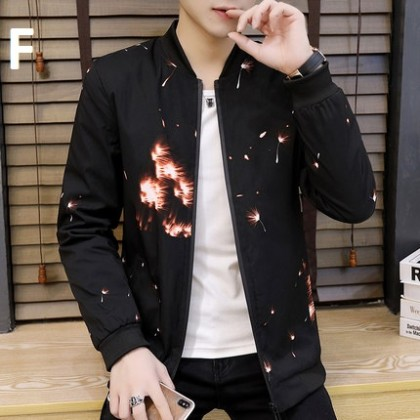 Men Clothing Casual Tooling Jacket Korean Version of the Trend