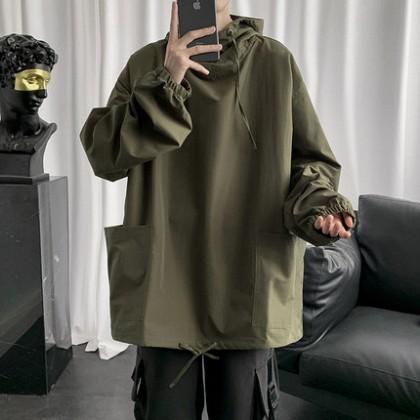 Men Clothing Loose Pocket Workwear High Street Jacket