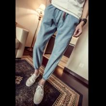 [PRE-ORDER] Men Plus Size XXL Elastic Rubber Waist Long Pants Jeans