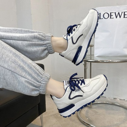 Women Fashion Casual All-match White College Style Sports Shoes