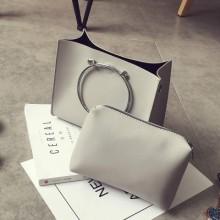 [PRE-ORDER] Women PU 2 in 1 Shoulder Bag Sling Cross-body Handbag