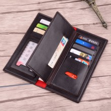 Men PU Leather Three Flip Large Capacity Wallet