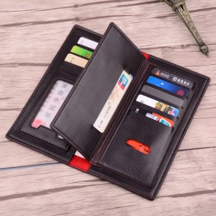 Men PU Leather Three Flip Large Capacity Wallet