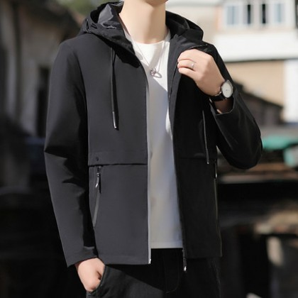Men Clothing New Trend Loose Casual Jacket Tooling All-match