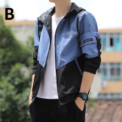 Men Clothing Trend Loose Casual Jacket Tooling All-match