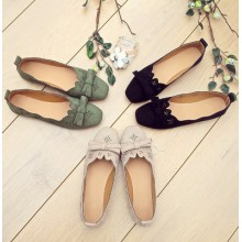 [PRE-ORDER] Women Office Lady Casual Flower Craved Flats