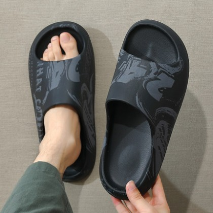 Men Fashion Slippers Wear Thick-soled Soft Soles in Summer