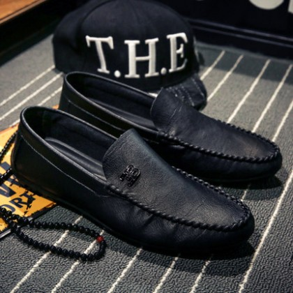 Men Fashion Casual Leather Shoes All-match Social Loafer