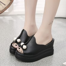 [PRE-ORDER] Women Pearl Wedges High Heel Sandals