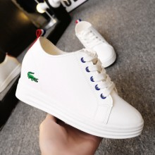 [PRE-ORDER] Women Crocodile Lacing Up Wedges Sneaker Sport Shoes