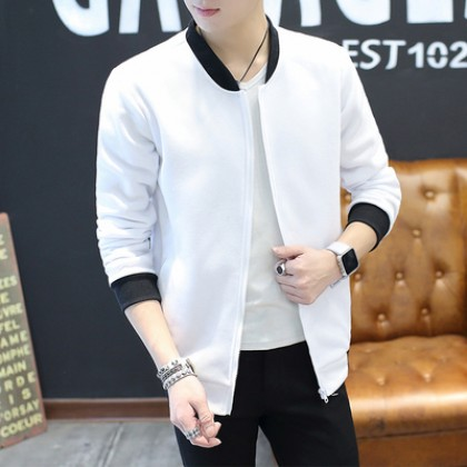 Men Clothing Korean Slim Youth Jacket Casual Thin
